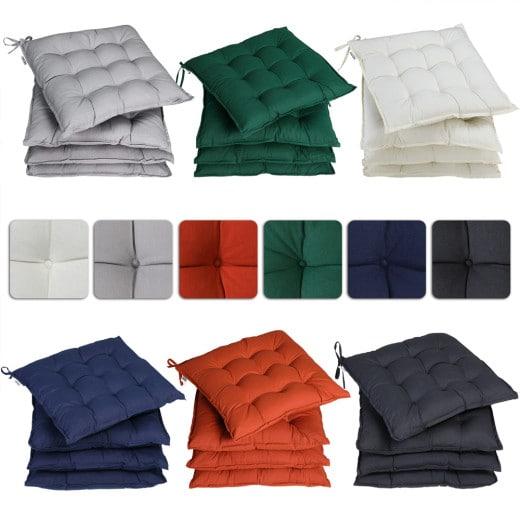 4er-Set Sitzkissen in 6 verschiedenen Farben