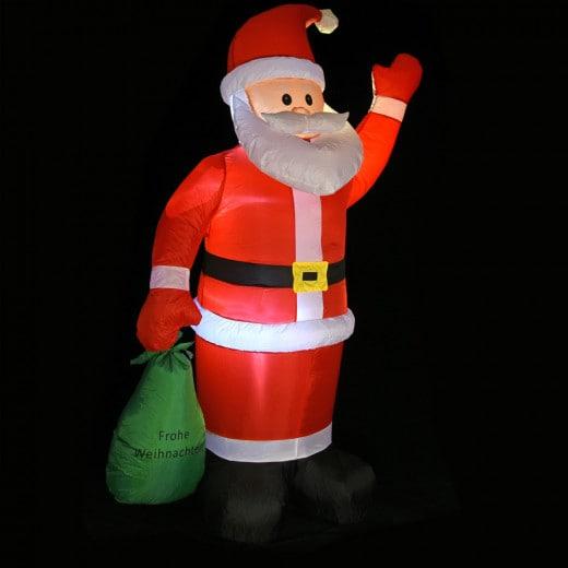 Aufblasbarer Weihnachtsmann mit Beleuchtung