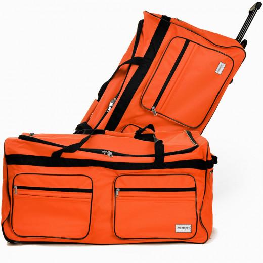 Borsone trolley da viaggio XXL arancione 160l 85x43x44cm