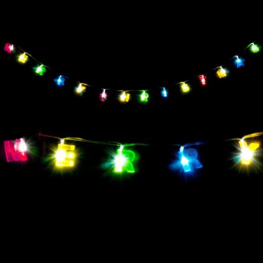 LED Lichterkette Merry Christmas Schriftzug