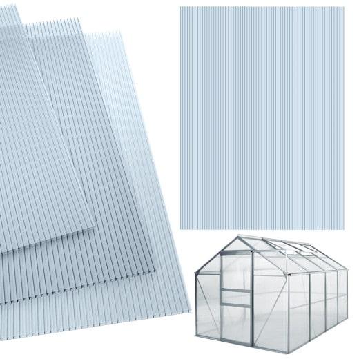 Hohlkammerstegplatten Doppelstegplatten 10,25 m², Stärke 4 mm