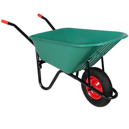 Schubkarre Grün Kunststoff bis 150kg mit Luftbereifung