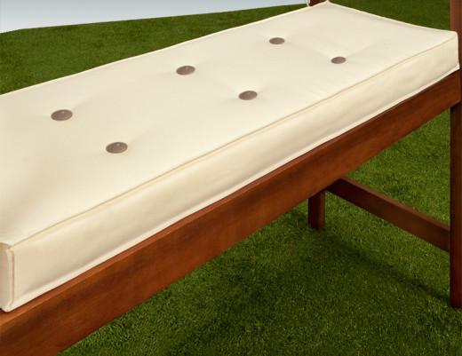 Cuscino per panchina crema 145x45x7cm