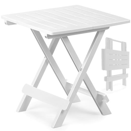 Beistelltisch Adige Weiß Kunststoff 45x43x50cm