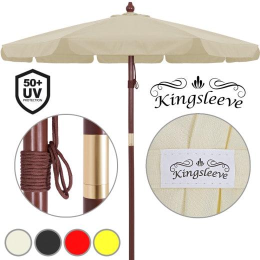 Ombrellone in legno Ø330cm – Protezione UV40+