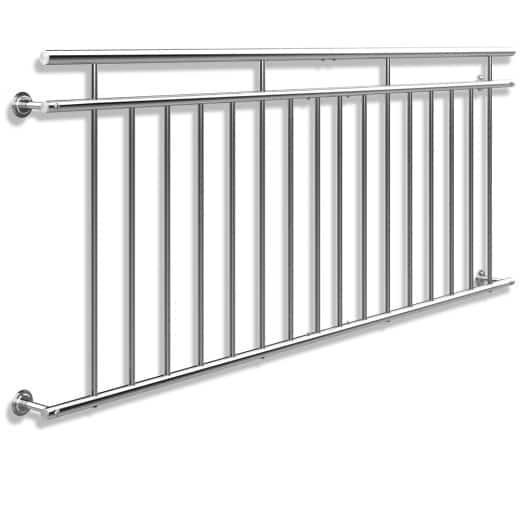 Ringhiera per balcone alla francese acciaio 90x225cm