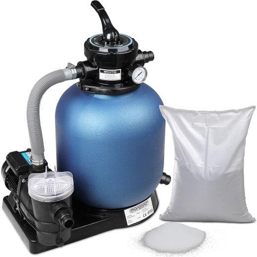 Sandfilteranlage 11.000 L/h mit Vorfilter/Filterglas