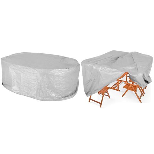 Copertura protettiva per mobili da giardino grigia 242x162x100cm