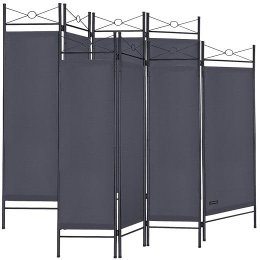 Set 2x Paraventi Lucca 180x163cm antracite