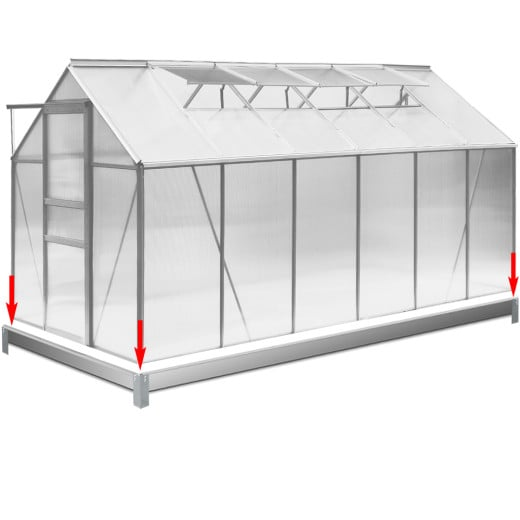Fundament für Gewächshaus 380x190 cm - verzinkt