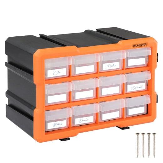 Kleinteileorganizer MW1812 29,5x16x19,5cm 12 Fächer
