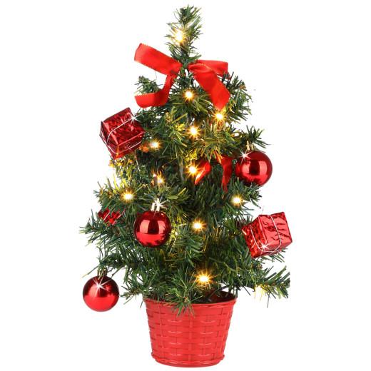 Tannenbaum Weihnachten Rot 36cm Timer