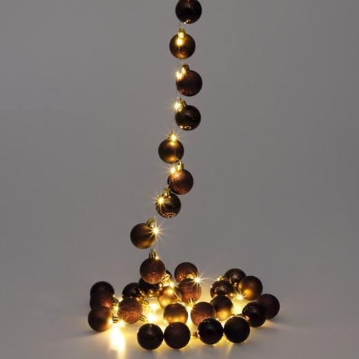 Lichterkette LED Braun 2m Kugeln
