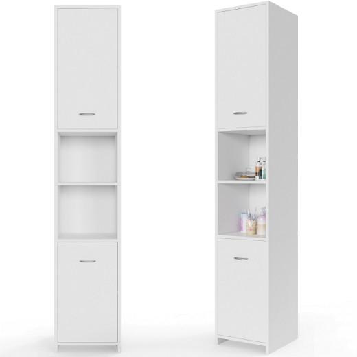 Badezimmerschrank mit verstellbaren Ablageböden - 185 x 30 x 30 cm