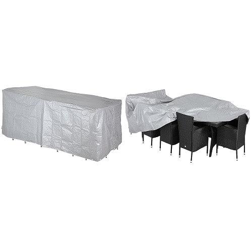 Copertura protettiva per mobili da giardino grigia 308x138x89cm