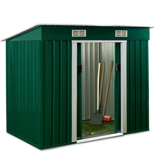 Gerätehaus Gartenhaus aus Metall grün