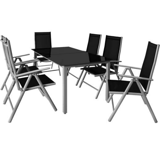 Set di Tavolo e Sedie 6+1 Bern in alluminio