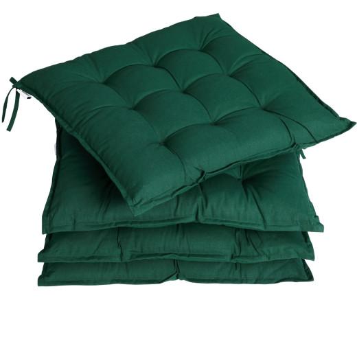 Set 4 x Cuscini per Sedie Cozy verde 41x41x5cm