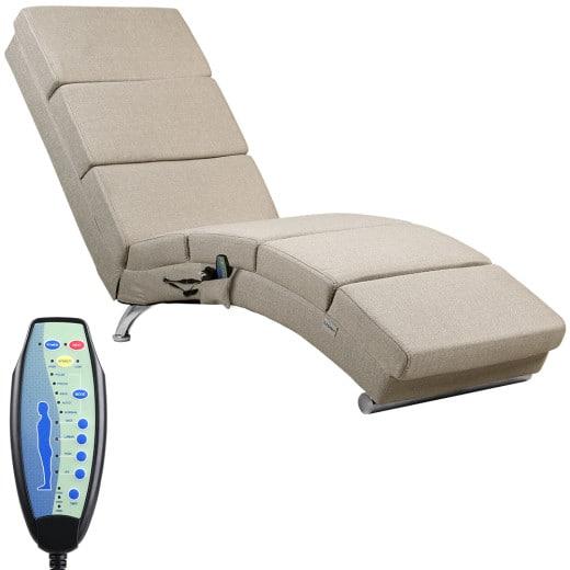 Relaxliege London Sand mit Massage- & Heizfunktion