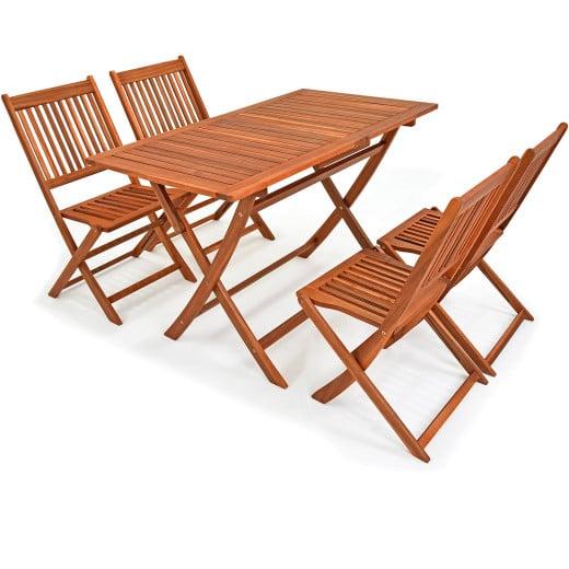 Sedie e Tavolo giardino Sydney 5pz acacia Certificato FSC®