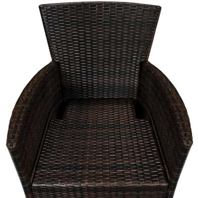 Salotto da giardino Bali con sedie impilabili 17 pezzi ...