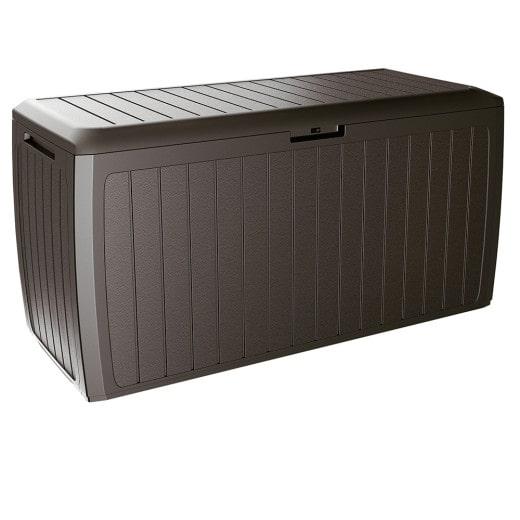 Auflagenbox Braun 116x47x60 cm mit Rollen