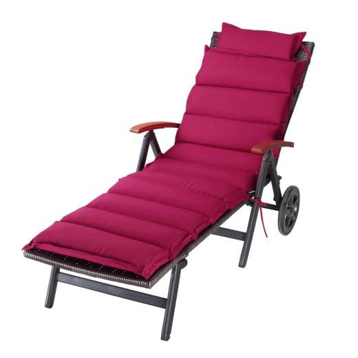 Cuscino per Sdraio rosso 183x56x7cm