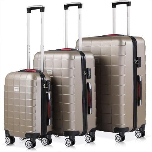 Set Tolley Exopack chiusura TSA 3 pezzi crema M,L,XL