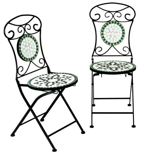 "Mosaikstuhl Set ""Flora"""