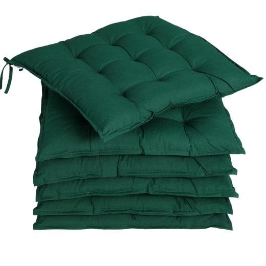 Set 6 x Cuscini per Sedia Cozy verde 45x45x5cm