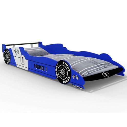 Letto per bambini Formula 1 blu