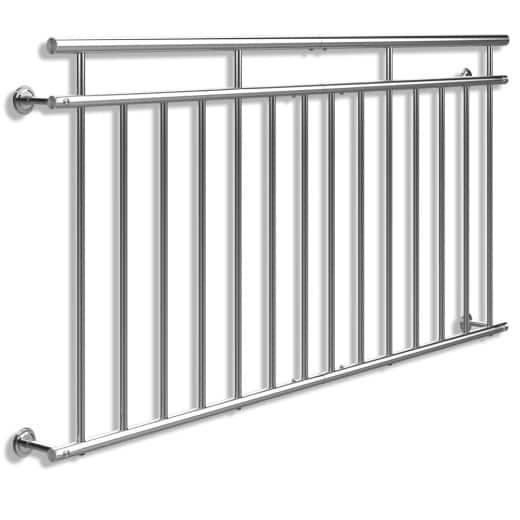 Ringhiera per balcone alla francese acciaio 90x184cm