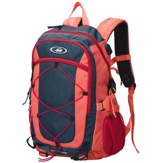 Zaino trekking impermeabile rosso 25l