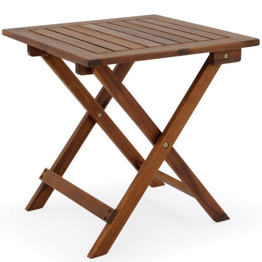 Gartentisch aus geöltem Akazienholz 46x46 cm klappbar