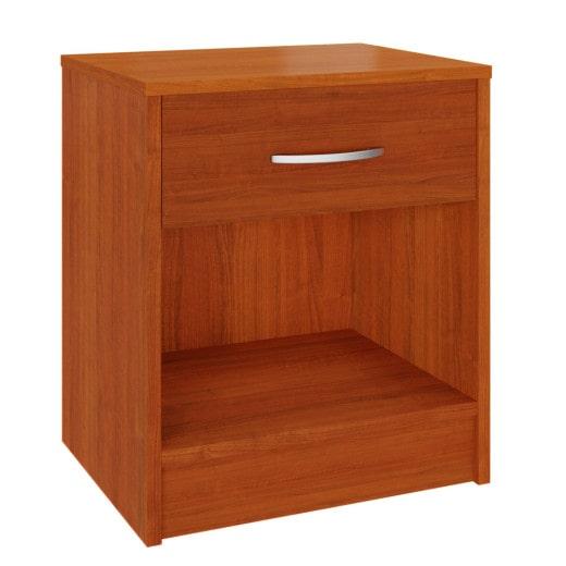Comodino con cassetto simil legno ciliegio 50x40x35cm