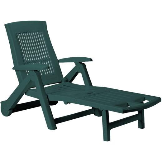 Sonnenliege Kunststoff Grün 195x72x101 cm