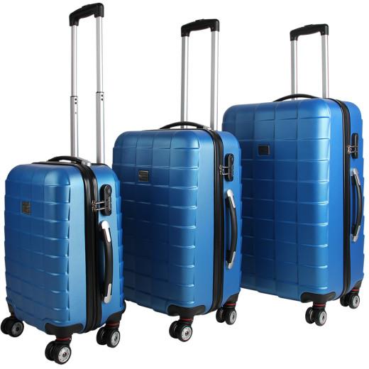 Set Valigie rigide M/L/XL 3 pezzi blu ABS 36l 59l 89l