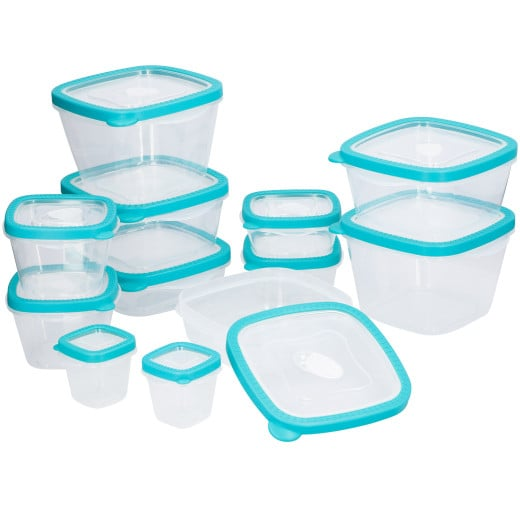 Contenitori alimentari 24 pz senza BPA turchese