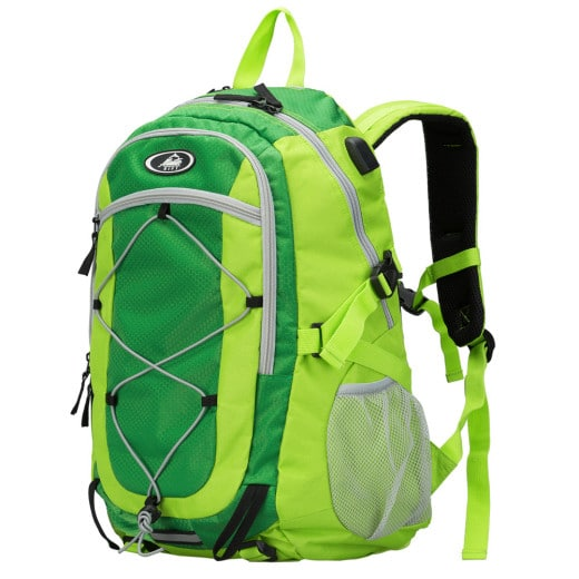 Zaino trekking impermeabile verde 35l