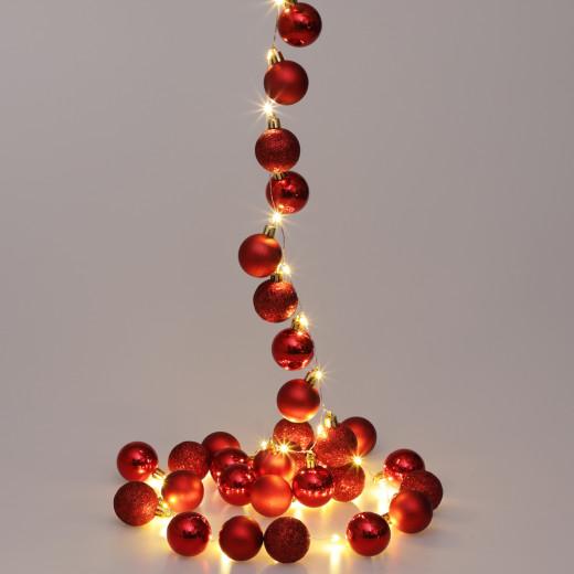 Lichterkette LED Rot 2m Kugeln