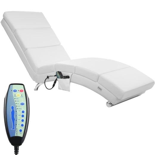 Massageliege in weiß & Heizfunktion