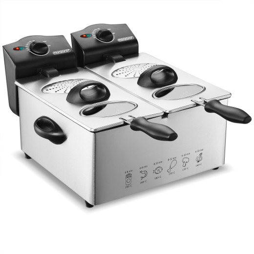 Friggitrice doppia elettrica 2000W 2x3L