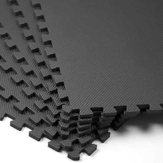 Bodenschutz-/Puzzlematte 6tlg. Schwarz 183,5x123,5x1,2cm