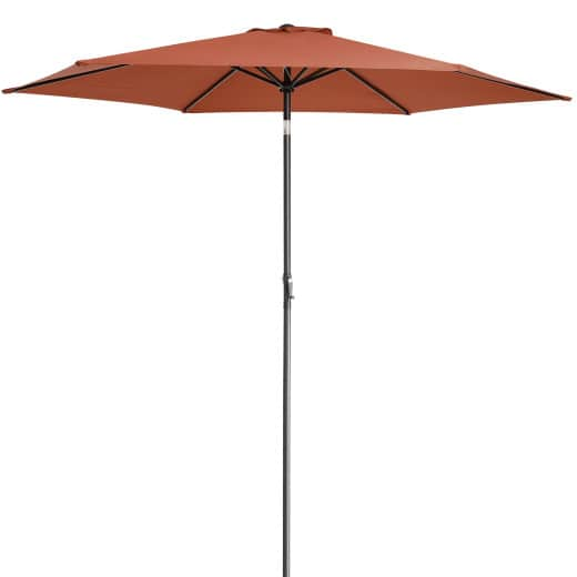 Sonnenschirm Terrakotta Alu Ø300cm UV-Schutz 40+