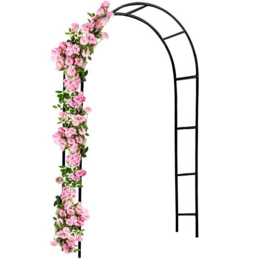 Arco per rose metallo nero 240x140x37cm
