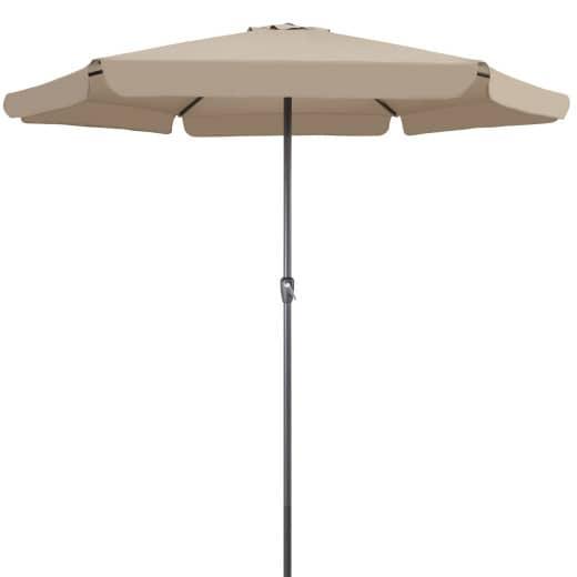 Sonnenschirm Taupe Ø330cm mit Kurbel