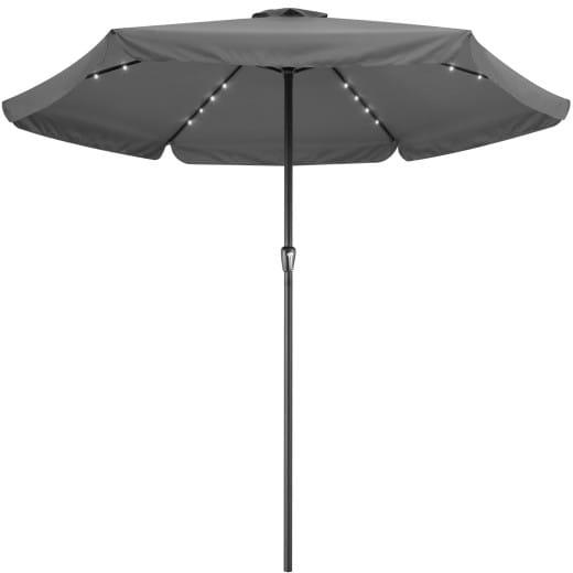 Ombrellone con 24 luci solare LED antracide alluminio Ø330