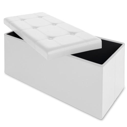 Sitzbank in weiß faltbar