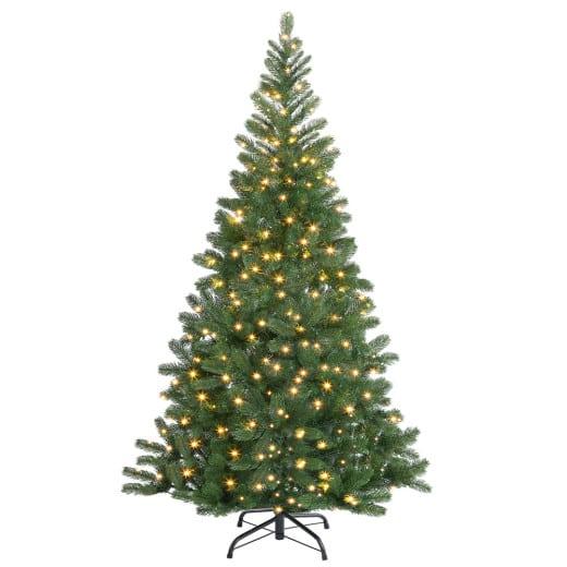 Albero di Natale con addobbi 140cm