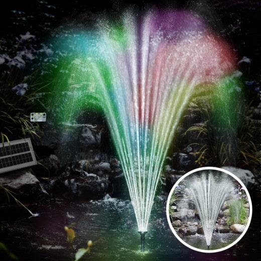 Pompa solare per laghetti con LED colorati
